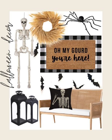 Halloween decorations I've ordered to decorate our front porch 👻  fall decor, bench, outdoor decor, spooky, skeleton, Target, Walmart, amazon   #LTKunder50 #LTKhome #LTKunder100