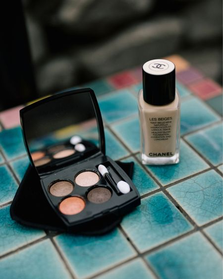 #chanelmakeup is worth the obsession. The foundation is light with amazing coverage. The eyeshadow quad mini-pallet offers beautiful colors. The quality is amazing that there is no creasing in the lid at the end of the day. http://liketk.it/3g4Mv #liketkit @liketoknow.it #LTKstyletip #LTKbeauty Shop your screenshot of this pic with the LIKEtoKNOW.it shopping app