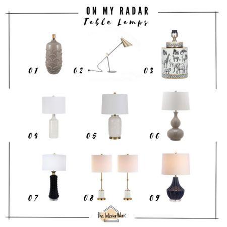 On my radar // Table Lamps  http://liketk.it/3dNqy #liketkit @liketoknow.it #LTKhome #LTKunder100