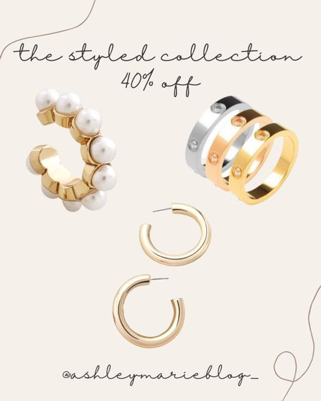Take 40% off the styled collection rings, ear cuffs, and earrings.   #LTKHoliday #LTKGiftGuide #LTKSale