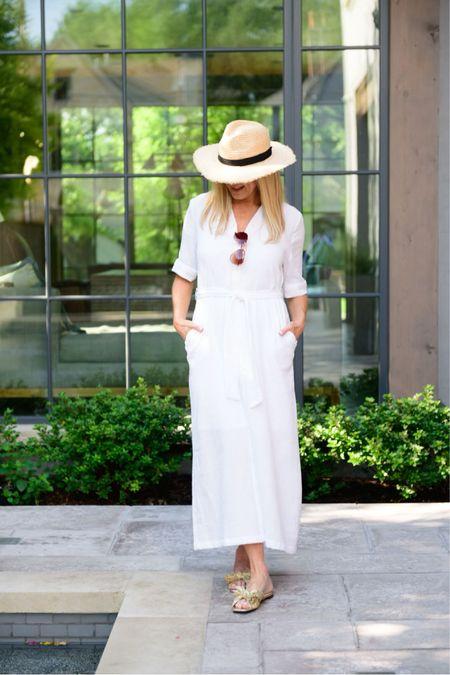 Love this easy white maxi for summer    #LTKshoecrush #LTKstyletip #LTKtravel