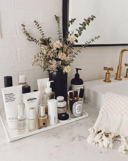 bathroom vanity trays 🖤 black & white http://liketk.it/2NuDT #liketkit @liketoknow.it #LTKhome