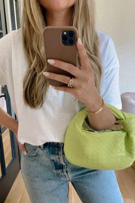 neon woven bag #neon #wovenbag   #LTKunder100