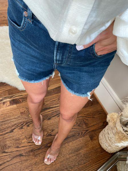 Stretchy denim shorts size 00  #LTKunder50 #LTKunder100