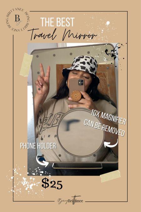 The best travel makeup mirror. Vanity planet dupe.   #LTKtravel #LTKbeauty #LTKsalealert