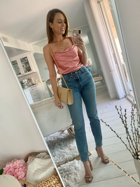 Cami and jeans for happy hour 🥂 #ltkootd