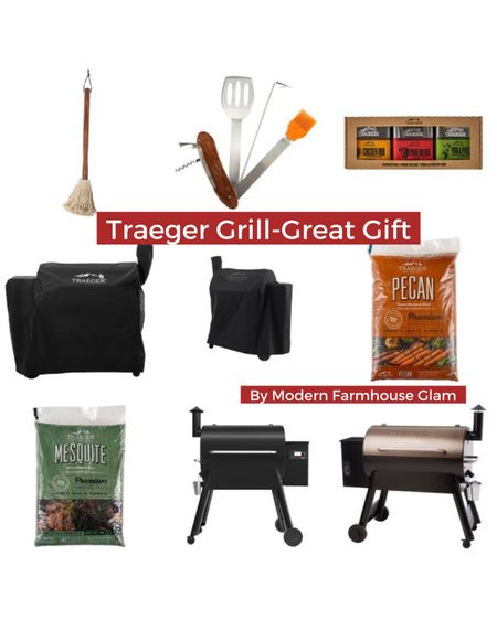 Great Father's Day gift idea, men's gifts, dad, outdoor grilling, Traeger grill, barbecue, Traeger cookbook, Mesquite and pecan chips, grilling accessories, Home Depot, Walmart, Amazon, a Modern Farmhouse Glam  http://liketk.it/3ga8a #liketkit @liketoknow.it #LTKhome #LTKsalealert #LTKmens @liketoknow.it.home @liketoknow.it.family You can instantly shop my looks by following me on the LIKEtoKNOW.it shopping app