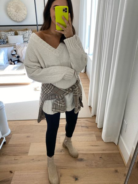 Such a cozy sweater for the fall. Love how this looks layered under the shacket! Code: DEDE20 for 20% off  #LTKsalealert #LTKSeasonal #LTKstyletip