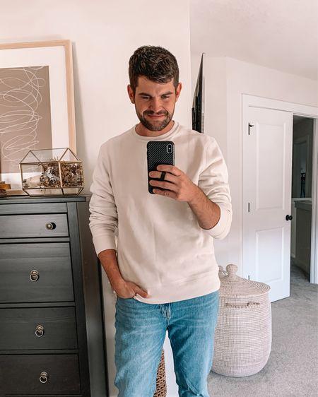 Men's amazon fashion, men's outfits, mens fashion, Abercrombie men, gifts for men, husband gift  - Sweatshirt: true to size (L) lots of colors  Jeans: true to size   #LTKmens #LTKunder50 #LTKGiftGuide