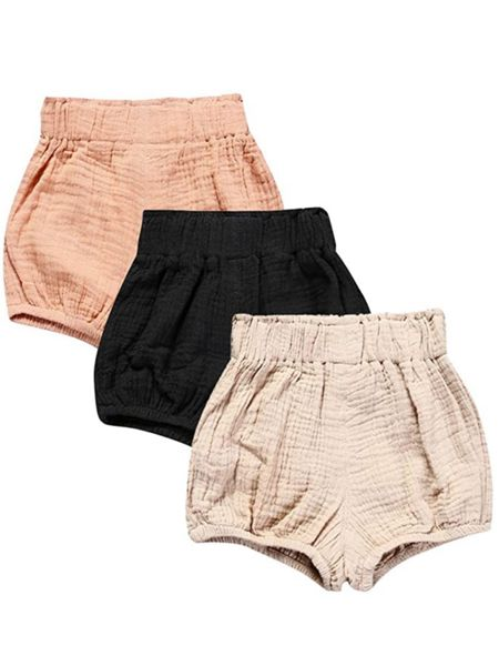 Under $20 for these stretchy Muslin shorts. These are perfect for the summer to fall season change with cute chunky sweaters! Size down in these!!    #LTKstyletip #LTKbaby #LTKkids
