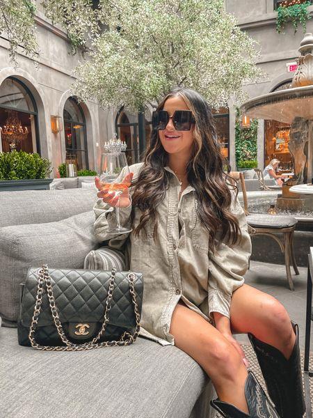 Amazon Dior dupe sunglasses red dress shacket   #LTKunder50 #LTKunder100