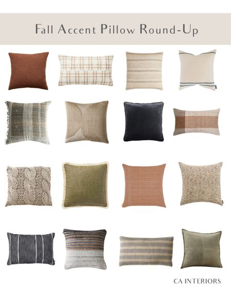 Bring fall vibes to your living room with cute but subtle autumn throw pillows!   #LTKhome #LTKHoliday