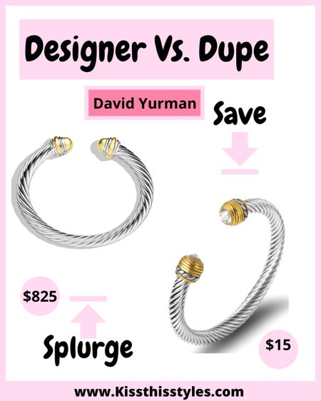 The Styled Collection! These are the best David Yurman Dupes! These are selling out fast. Some designs have already sold out! Stock up, ladies! #ltksale #dupes #designerdupes #davidyurmandupes  #LTKDay #LTKsalealert #LTKSale