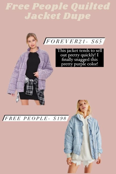 Free People quilted jacket dupe!  #LTKSeasonal #LTKunder100