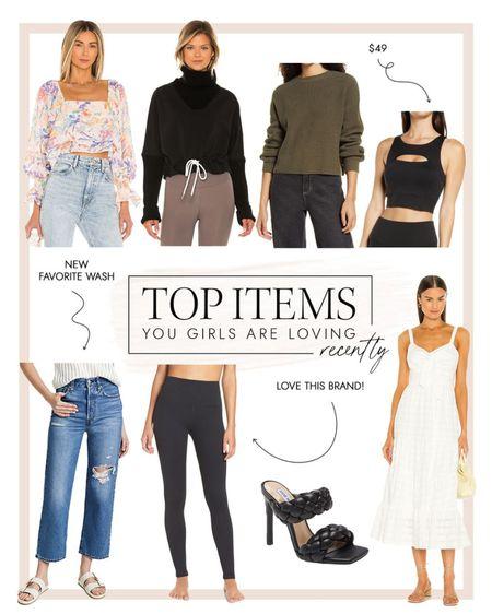 My favorite leggings, jeans , date night heels and sports bra all made this weeks top sellers   #LTKsalealert #LTKunder100 #LTKshoecrush