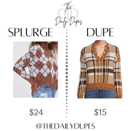 Distressed sweater #thedailydupes  #LTKSeasonal #LTKsalealert #LTKunder50