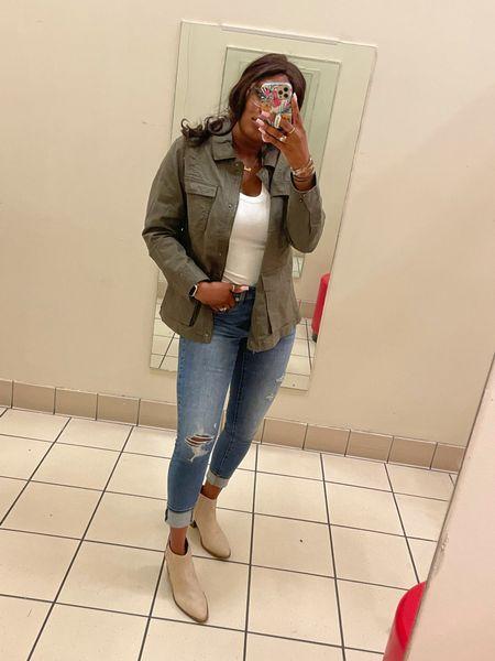 Fall fashion loading  Anorak Tank Jeans Booties  #LTKstyletip #LTKbacktoschool #LTKSeasonal
