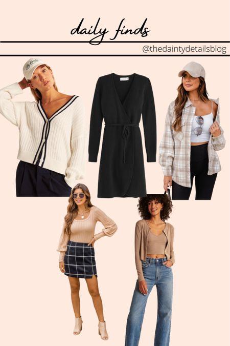 Daily finds: fall outfits, fall dress, shacket, cardigan set, sweater, plaid skirt   #LTKSeasonal #LTKsalealert #LTKSale