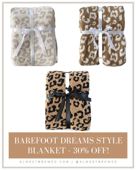 The Styled Collection- Barefoot Dreams Style Inspired Blanket #thestyledcollections Leopard soft blanket throw  #Ltkday  #LTKhome #LTKSeasonal #LTKsalealert