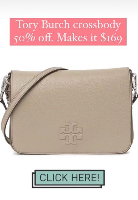 Tory Burch crossbody purse 50% off #handbag #purses #crossbody   #LTKitbag #LTKunder100 #LTKsalealert