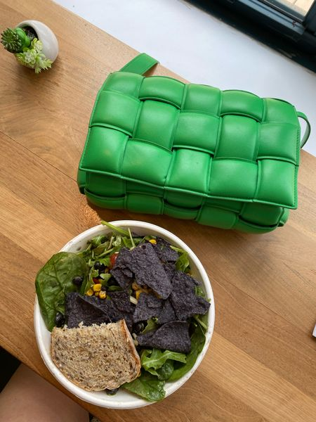 Salad with a side of Bottega. The cassette handbag comes with or without the chain strap.   #LTKSeasonal