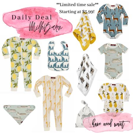 Milk barn is a favorite baby brand of ours and they've currently got a ton of styles on sale! Worth snagging a few. They make great gifts as well in case you've got a friend that's expecting or stock up for your own baby or toddler!   #LTKkids #LTKbaby #LTKsalealert
