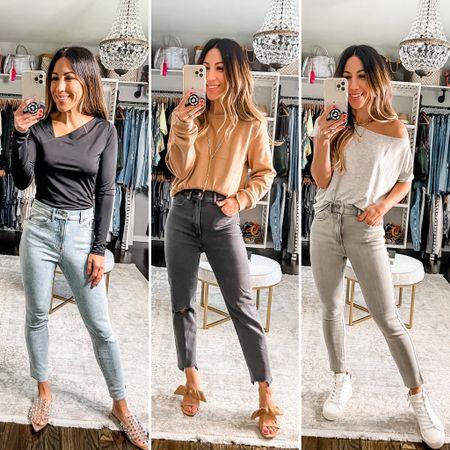 Express jeans, express denim, gray denim, gray jeans, black denim, black jeans, skinny jeans, mom jeans   #LTKsalealert #LTKunder50