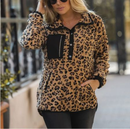 $34 leopard pullover   #LTKunder50 #LTKstyletip #LTKGiftGuide