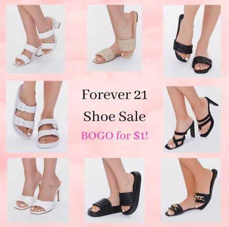 Forever 21 shoe sale! Affordable summer fall shoes heels sandals boots booties slides  #LTKSale #LTKshoecrush #LTKsalealert