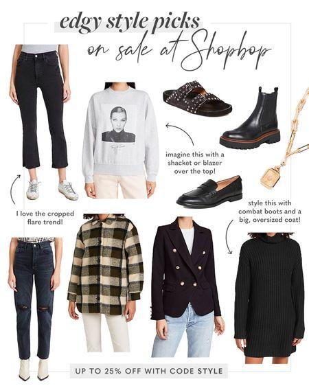 Shopbop sale, sale alert, edgy style picks, fall 2021 trend alert   #LTKSeasonal #LTKstyletip #LTKsalealert