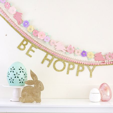 BE HOPPY - A DIY banner you can create and make your own saying!  #LTKhome #StayHomeWithLTK #LTKSeasonal