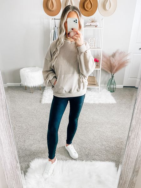 ✨BLONDEBELLE✨ to save! Wearing a size small!  . . . Hoodie, pink lily boutique, casual outfit, fall, fall outfit, pink lily boutique, white sneakers, casual hoodie   #LTKunder50 #LTKSeasonal #LTKstyletip