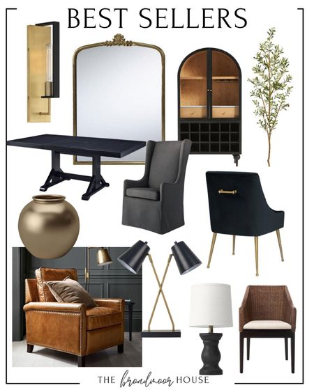 The sellers of the week, wall sconces, floor mirror, anthropologie gleaning Primrose mirror, work hard, arched cabinet, black furniture, black cabinet, olive tree, floor tree, home decor, living room Decor, Living Room Furniture, Dining Room Furniture, EXTENDable dining table, black farmhouse table, wing back dining chair, upholstered dining chair, black velvet, modern furniture, modern dining chair, brass Furniture, Brass chair, flower vase, spring Decor, summer Decor, cognac leather, pottery barn furniture, side chair, accent chair, living room chair, table lamp, black lamp, accent, wicker,  #LTKhome #LTKstyletip #LTKfamily