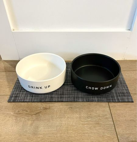 These dog bowls from target are so cute! I love the big oversize in the simplicity of the design! The patterned nonslip mat just ties it all in together!  Target home, target finds, dog bowl, dog toy, but decor, white Decor, modern decor   #LTKsalealert #LTKfamily #LTKhome