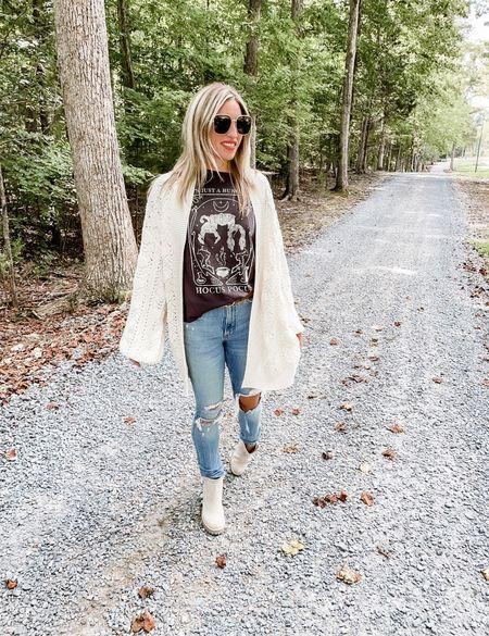 Amazon fashion , casual sweater, hocus pocus tee, Abercrombie jeans   #LTKunder50 #LTKunder100 #LTKSeasonal