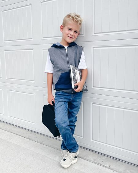 Back to school outfit!!   Eeek!  He really struck a pose and melted my heart 🥰🥰      These are called water shoes but Cam wears them as sneakers when it's not raining (they have small vent holes in the sole).   #LTKsalealert #LTKfamily #LTKkids