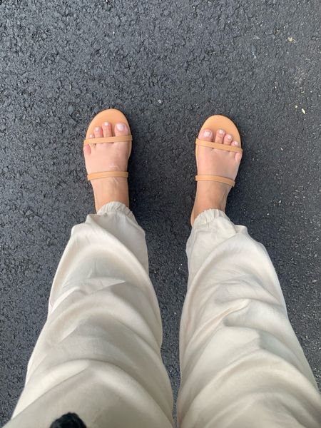 Comfy Amazon sandals true to size I got the six and Half and they're very comfortable even for long walks    #LTKSeasonal #LTKstyletip #LTKunder50