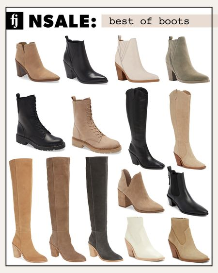 The best boots and booties from the Nordstrom anniversary sale! #booties #nordstromsale #liketkit #nordstromanniversarysale  #LTKshoecrush #LTKunder100 #LTKsalealert