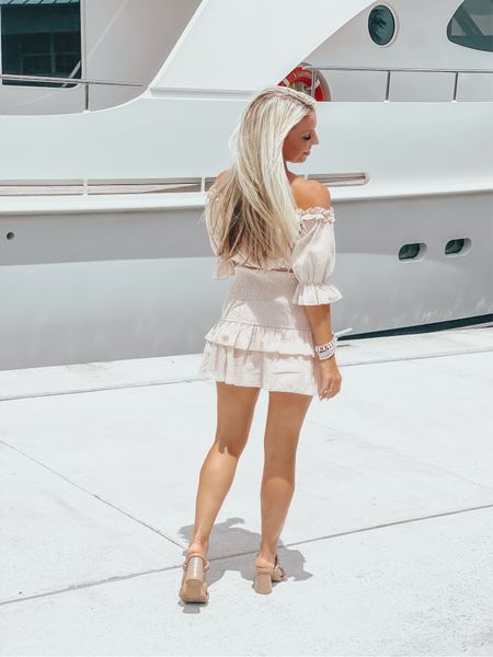 Wishing I could sail away ⚓️ 😉 But will settle for some champagne on this gorgeous Saturday 🍾 My dress is under $27 and these shoes are the hottest sellers right now ✨ Cheers! 🥂#thesunnyblonde #amazon #saturday #brunch #brunchdress    #LTKstyletip #LTKshoecrush #LTKunder50