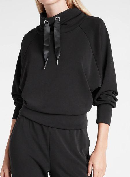 Funnel neck dolman sleeve scuba sweatshirt   #LTKstyletip #LTKSeasonal #LTKunder100