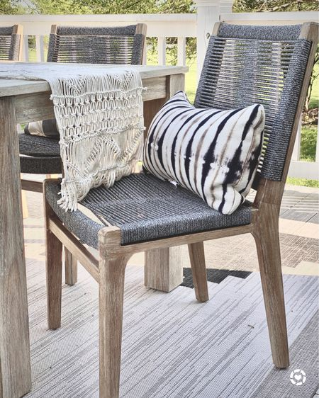 Favorite outdoor chairs, table and throw pillow🤍 http://liketk.it/3fa1i @liketoknow.it #liketkit #LTKhome #LTKunder100 #LTKfamily @liketoknow.it.family @liketoknow.it.home Shop my daily looks by following me on the LIKEtoKNOW.it shopping app