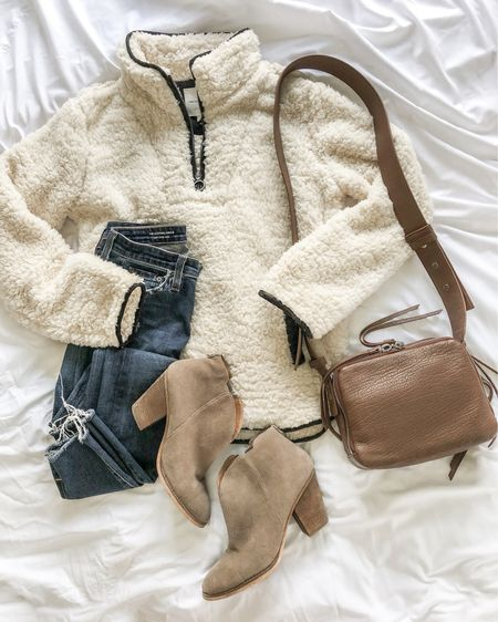 Nsale still in stock 2021! Love this sherpa sweater and these booties! http://liketk.it/3kiAg @liketoknow.it #liketkit