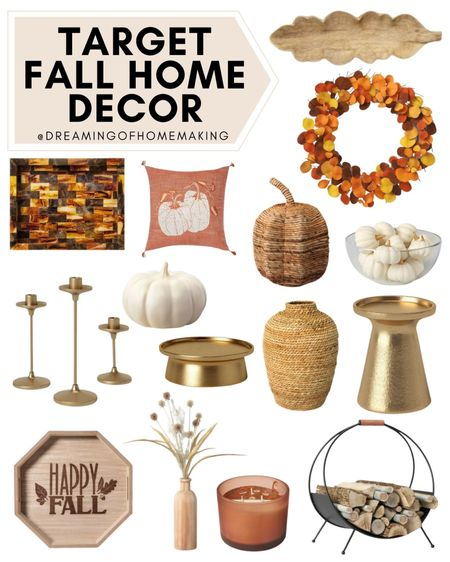 Target Fall Home Decor  Dreaming of Homemaking | #DreamingofHomemaking   #LTKhome #LTKunder50 #LTKunder100