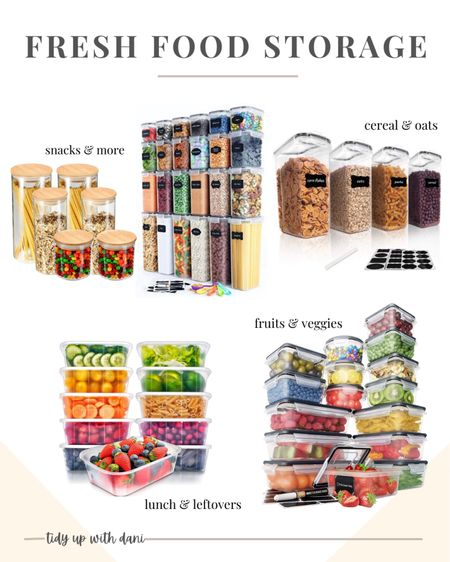 Organize your food to keep it fresh longer!  Food storage containers for pantry. Food storage containers for fridge. Cereal storage containers. Food storage containers for fruits and vegetables. Meal prep food containers. Glass food storage containers. Amazon food storage containers. Food storage containers on a budget.   #LTKhome #LTKfamily #LTKunder50