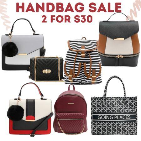 Get 2 Handbags for only $30 or puss. Totes and backpacks included.    #LTKunder50 #LTKsalealert #LTKitbag