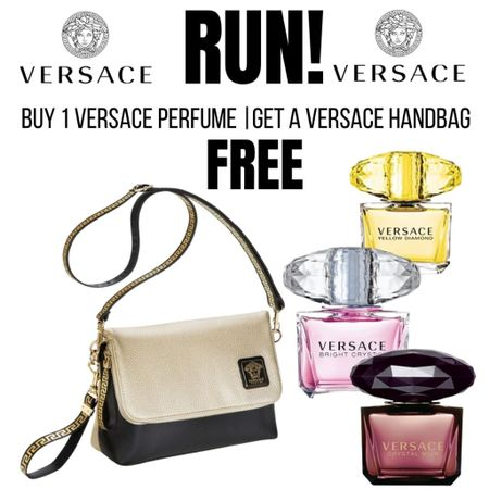 Buy the perfume and get a Versace Handbag FREE!😱😳 Just add a perfume to your cart and the handbag offer will show up in your cart. http://liketk.it/3gh2N #liketkit @liketoknow.it #LTKsalealert #LTKunder100 #LTKbeauty