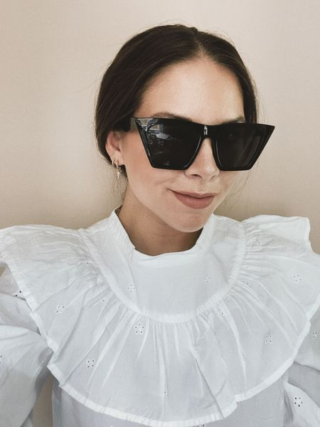 Vintage cat eye sunglasses #style