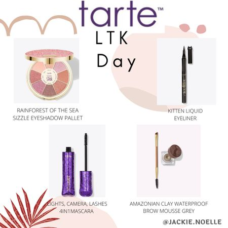 Some of my favorite tarte cosmetics! Get them on sale this LTK day!!! Follow me on the LIKEtoKNOW.it shopping app to get the product details for this look and others @liketoknow.it #liketkit #LTKbeauty #LTKDay #LTKsalealert http://liketk.it/3hdMh