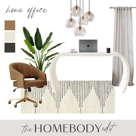 A dreamy home office! #homeoffice #homedecor #decor #office #officedecor  #LTKhome #LTKsalealert