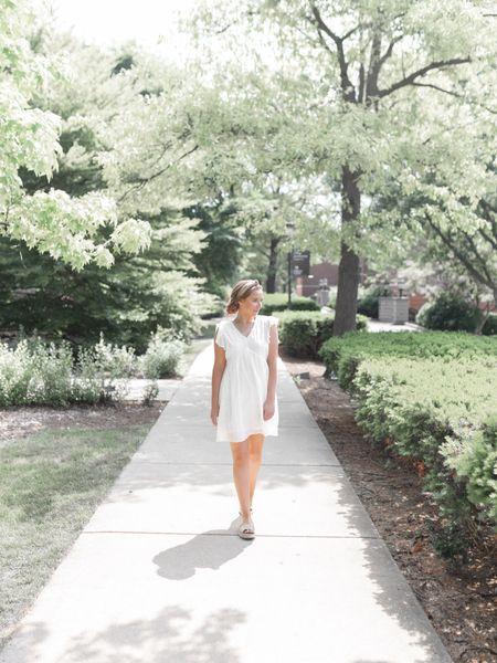 Little white dress with rattan and wicker inspired summer accessories! http://liketk.it/2T6Aa #liketkit @liketoknow.it #LTKshoecrush #LTKunder50 #LTKstyletip